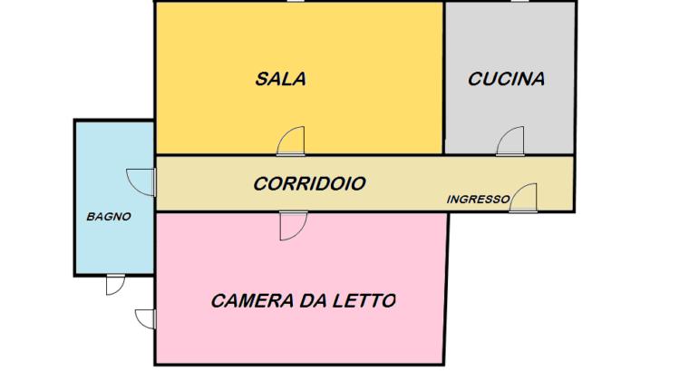 Bilocale via Moretto da Brescia 17