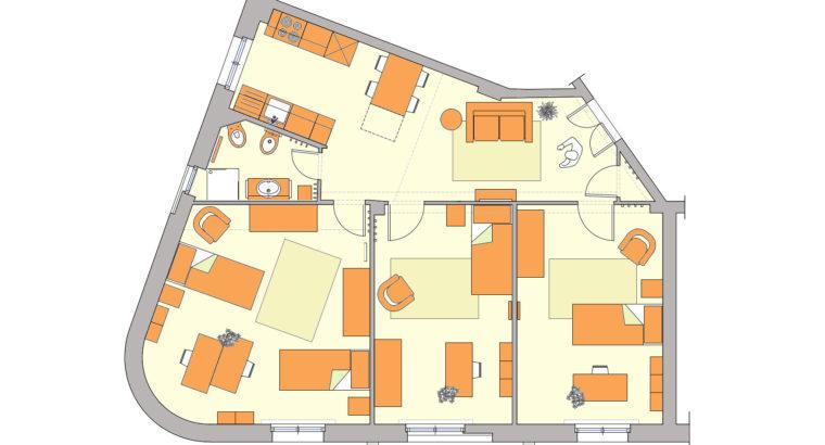 Appartamento nuovissimo arredato, 4 posti letto